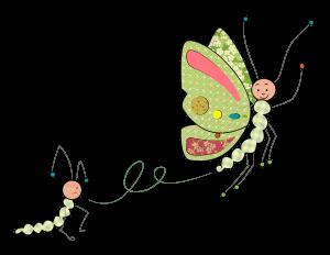 de chenille à papillon-couleur